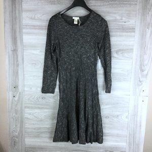 Max Studio Scoop Neck long Sleeve Sweater Dress